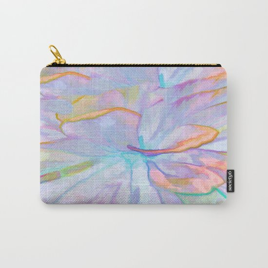 Soft Pastel Painted Petals Abstract Carry-All Pouch