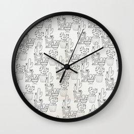 Cactus Pattern Wall Clock