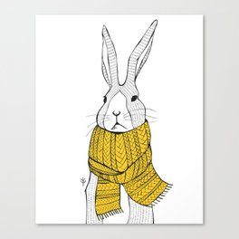 Rabbit in a yellow scarf Canvas Print