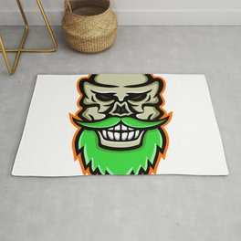Bearded Skull or Cranium Mascot Rug