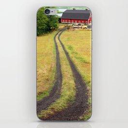 Red Barn Dirt Road iPhone Skin