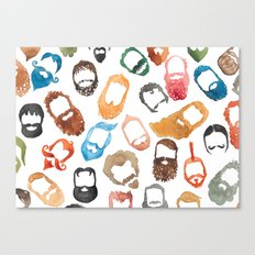 Beards on Beards Canvas Print