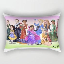 """Ten Real-World Princesses Who Don't Need Disney Glitter"" Trumble Cartoon Rectangular Pillow"