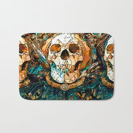 Old Skull Bath Mat