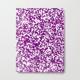 Small Spots - White and Purple Violet Metal Print