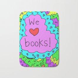 We love books! Bath Mat