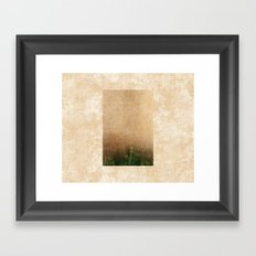 Rising green Framed Art Print