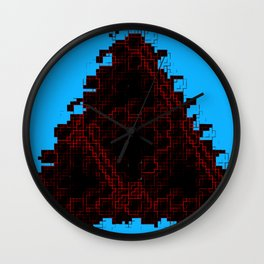 Blood-red pixel triforce Wall Clock