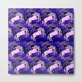 star unicorns Metal Print
