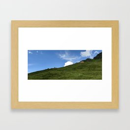 Cloud In The Swiss Alps Framed Art Print