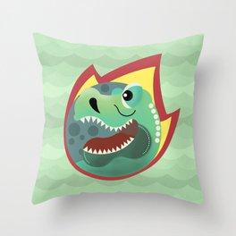 Geometric Dinosaur Throw Pillow