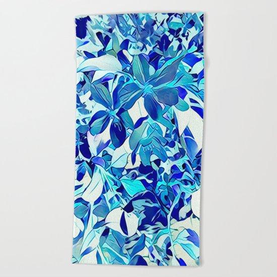 Blue sakura Beach Towel