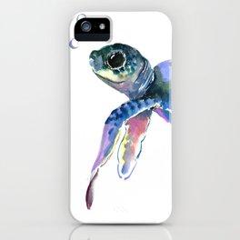 Sea Turtle, children artwork Illustration iPhone Case