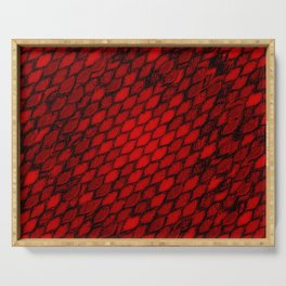 Red Dragon Scales Serving Tray