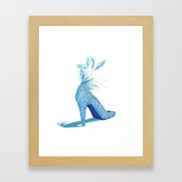 peacock shoe Framed Art Print