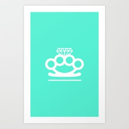 Bangin' Brass Knuckles Art Print
