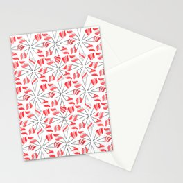 RED CONE / pattern pattern Stationery Cards