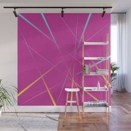 Laser Light Show - Pink Wall Mural