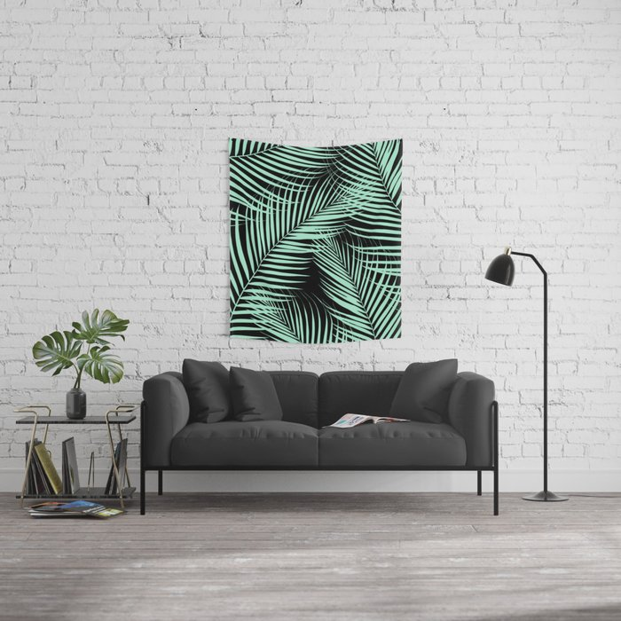 Palm Leaves - Mint Cali Vibes #1 #tropical #decor #art #society6 Wall Tapestry