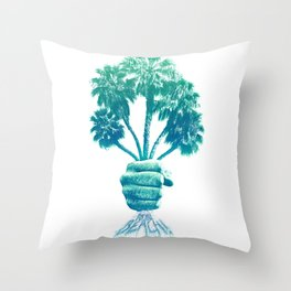 Beach Bouquet Throw Pillow
