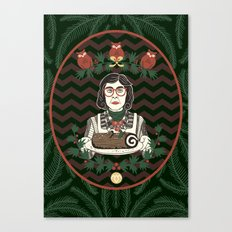Yule Log Lady Canvas Print