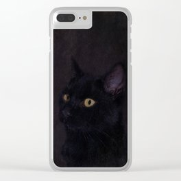 Black Cat - Prince Of Darkness Clear iPhone Case