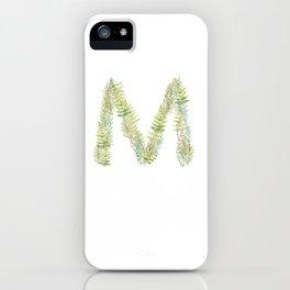 Initial M iPhone Case