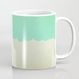 A Single Aqua Scallop Coffee Mug