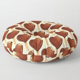 Ice Cream Pattern - Heart Floor Pillow