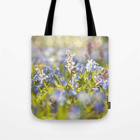 Spring flower meadow - Colorful flowers -floral on #Society6 Tote Bag
