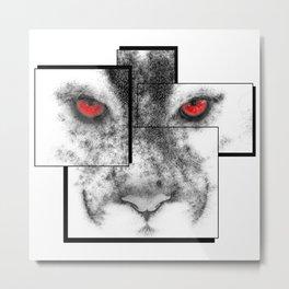 Line series, cougar. Metal Print