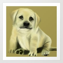 Chubby Puppy with Doleful Eyes Art Print