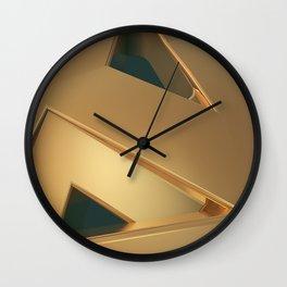 Class golden art Wall Clock