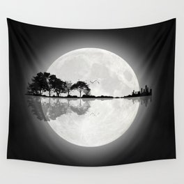 Moonlight Nature Guitar Wall Tapestry