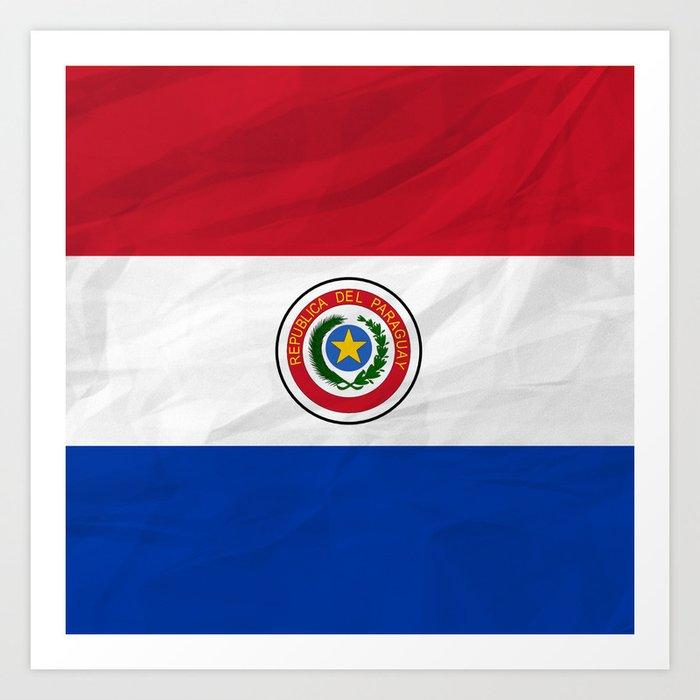 Paraguay South America Flags Art Print By Samkaam