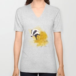 Hufflepuff HP inspired artwork Unisex V-Neck