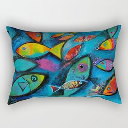 Plenty of fish in the sea Rectangular Pillow