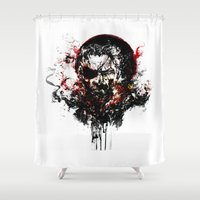 metal gear solid Shower Curtains featuring Metal Gear Solid V: The Phantom Pain by ururuty