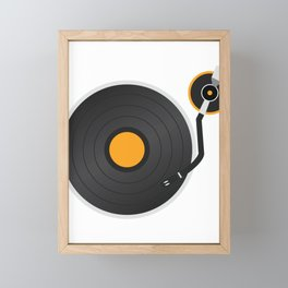 Vinyl Vintage Record Rave T-Shirt for Men and Wome Framed Mini Art Print