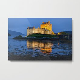 EILEAN DONAN CASTLE SCOTLAND NIGHT PHOTOGRAPHY Metal Print