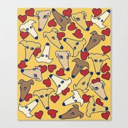I love greyhounds Canvas Print