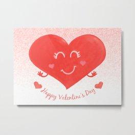 Valentine's Day heart Metal Print