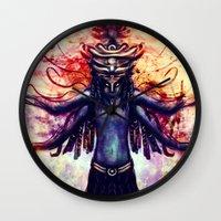 third eye Wall Clocks featuring Third Eye by Ayula