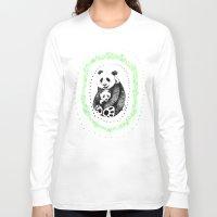pandas Long Sleeve T-shirts featuring PANDAS! by Sagara Hirsch