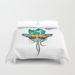 Surreal Paradise Floral Print Duvet Cover