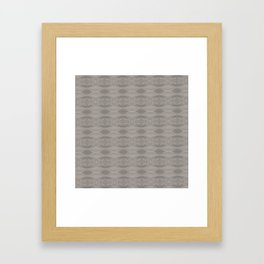 Elegant Gray Geometric Southwestern Pattern - Luxury Framed Art Print