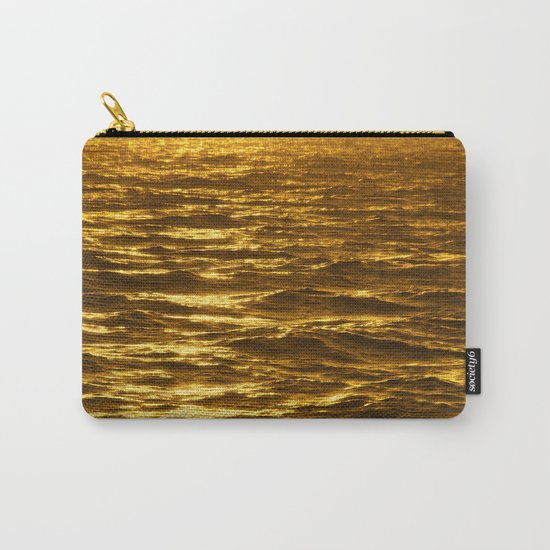 Gold Ocean Carry-All Pouch