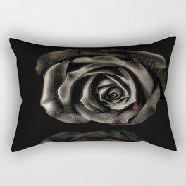 Black vampire rose Rectangular Pillow