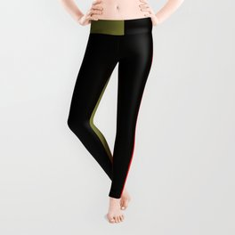 Team Colors 7....gold, red and black Leggings