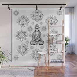 Buddha, HOME DECOR,with hand-painted Mandala Clouds,iPhone case,iPhone cover,iPhone skin,Laptop skin Wall Mural